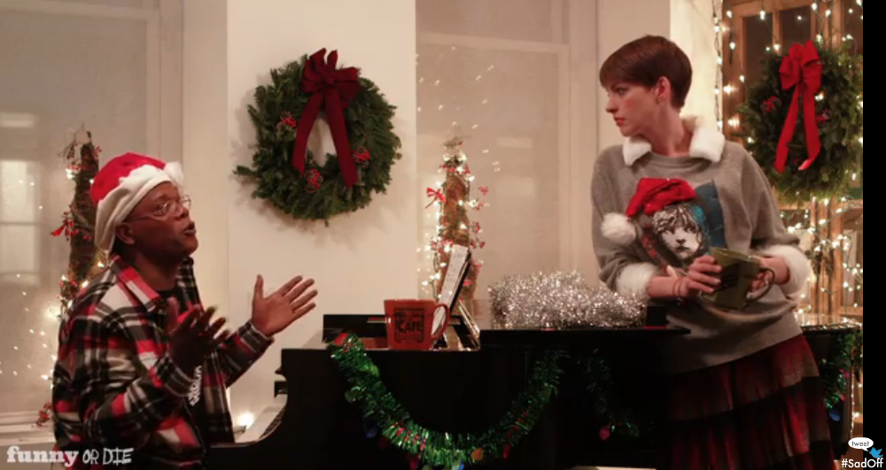 This Week's Top Comedy Video: Samuel L Jackson And Anne Hathaway Have A Sad-Off