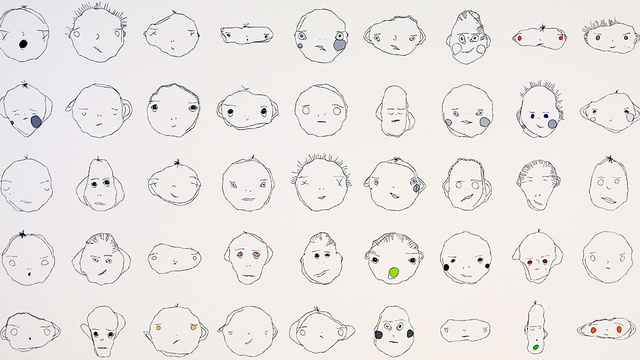 Click here to read These Weird Cartoon Faces Are All Drawn By an Algorithm