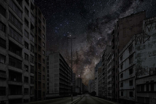Stunning pictures imagine the starry night skies over cities after a global blackout