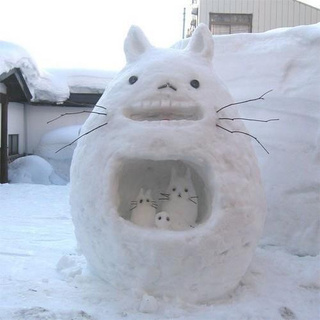 Snow Totoro may be cold, but he'll warm your heart