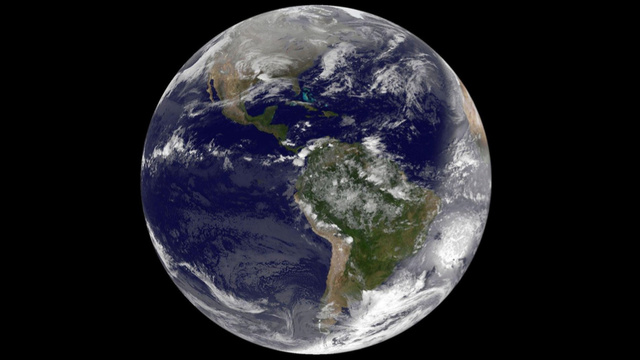 A view of Earth on Christmas morning, as seen from space