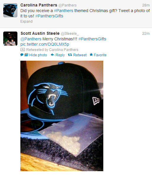 The Carolina Panthers Twitter Account Retweeted A Fan Who Got A…