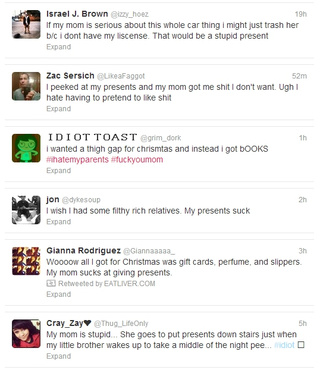 'Christmas Sucks': Spoiled Brats Whine About Their Free Gifts on Twitter