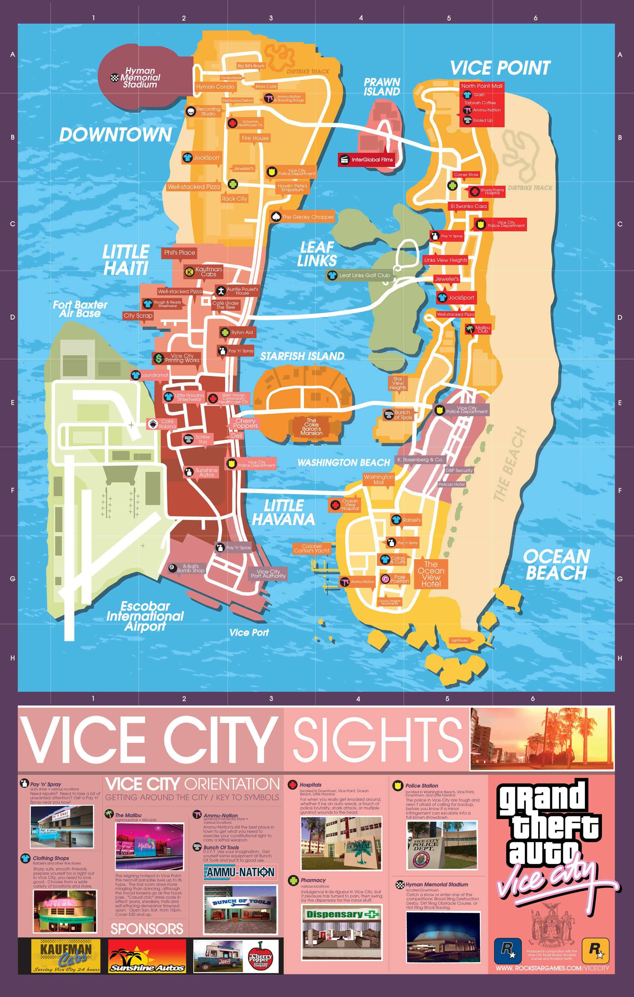 Download Your Own Copy Of Grand Theft Auto's Colourful Maps