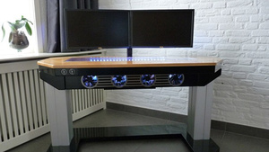 The Next Level Workspace: an Incredible DIY, Lifting Computer-in-a-Desk