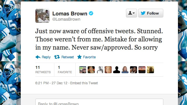 ESPN's Lomas Brown Says He Didn't Send All Those Insulting Twee…