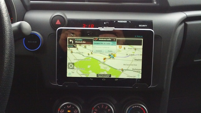 Mount A 7 Inch Tablet In Your Car For Better Music