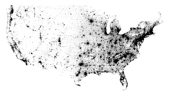 This Crazy Map Has One Dot For Every Person In The United States