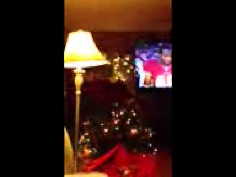 Lunatic Redskins fan tackles Christmas tree