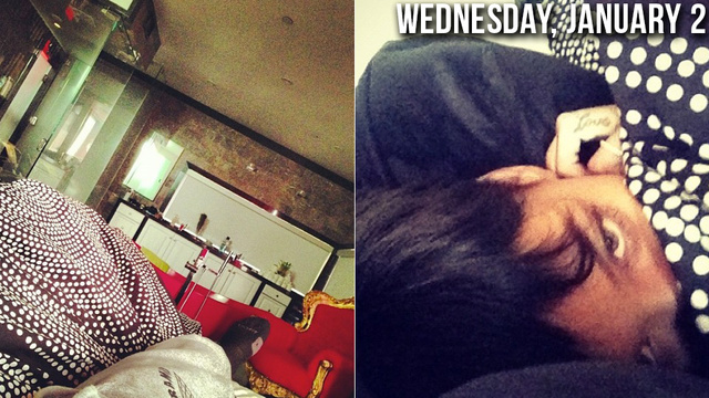 Of Course Rihanna and Chris Brown Spent New Year's Eve in Bed Together