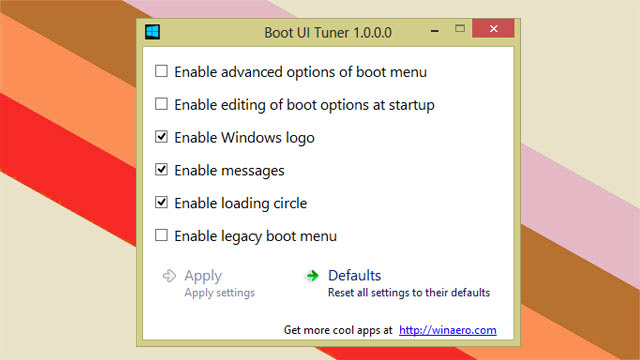 Boot UI Tuner Customizes Windows 8 Boot Menu Options