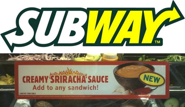Subway Quietly Unveils 'Creamy Sriracha Sauce' at Select Locations
