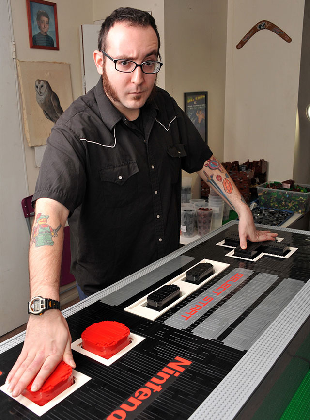 Giant Five-Foot NES Controller Is Made Out Of LEGO. And Actually Works.