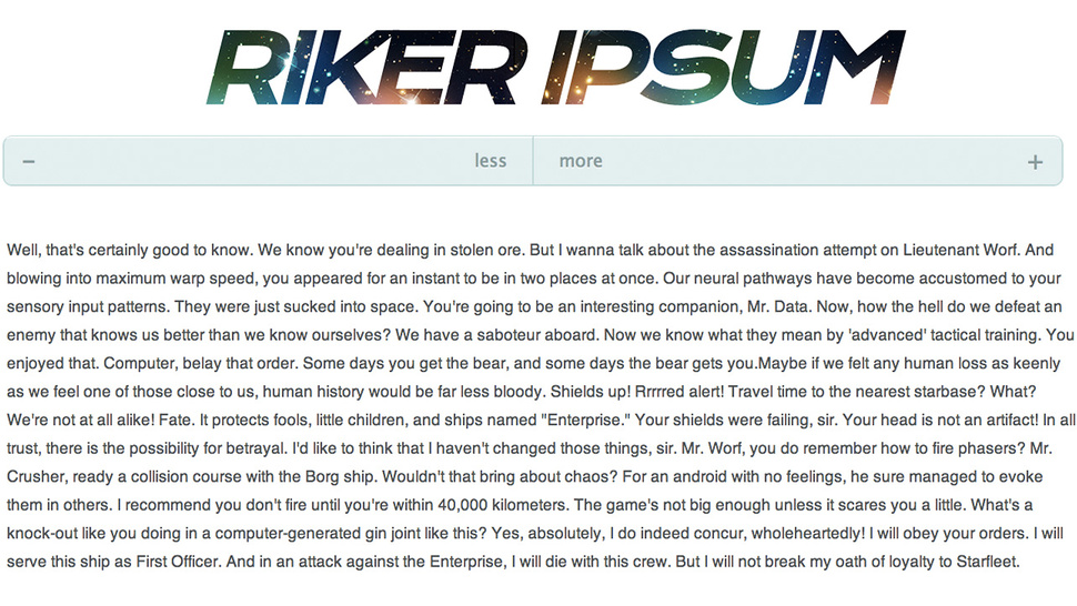 BS Your Way Through Starfleet Paperwork With Riker Ipsum