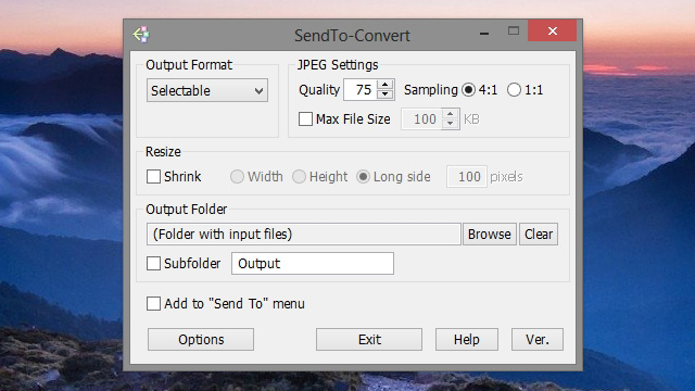 SendTo-Convert Converts Images From Your Right-Click Menu, Without the Clutter