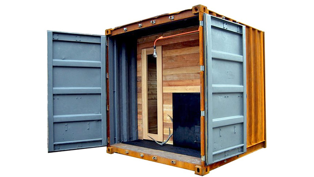 Click here to read A Portable Shipping Container Sauna Is the Ultimate Stress Toy