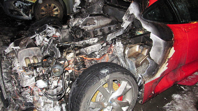 This Russian Ferrari F430 Committed Suicide-By-Fire On New Year's Day