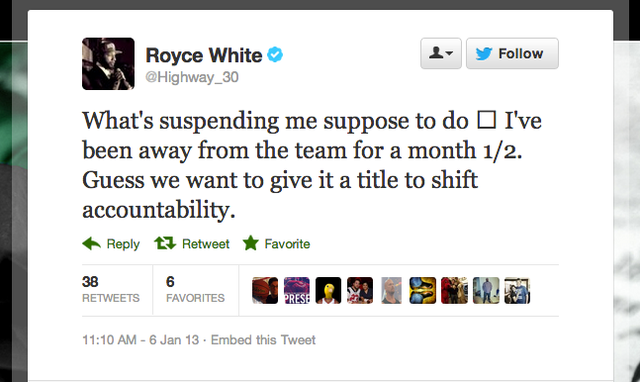 The Rockets Suspended Royce White, Who Apparently Wasn't Already Suspended