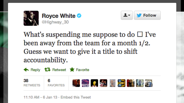 The Rockets Suspended Royce White, Who Apparently Wasn't Alread…