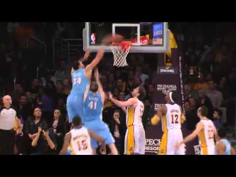 JaVale McGee Goes Up And Over Two Of His Own Teammates For A Pu…