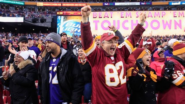 The Redskins May Have Been Pumping Artificial Crowd Noise Into The Stadium During Yesterday's Game