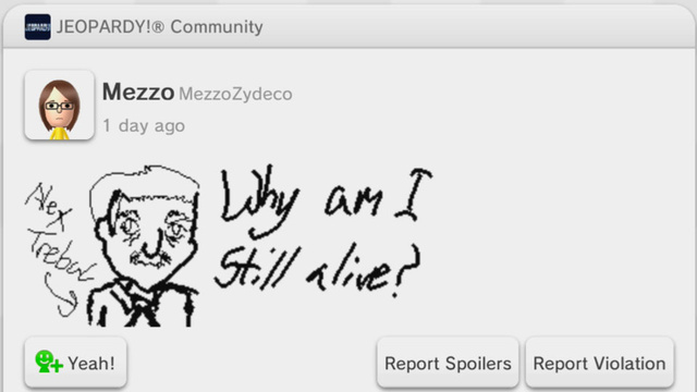 Miiverse Moments: The Many Faces of Alex Trebek