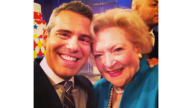 Andy Cohen Switches Teams for Betty White
