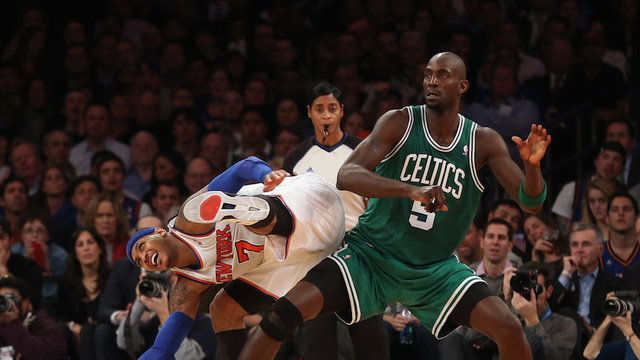 Carmelo Anthony And Kevin Garnett Got Into Some Kind Of Scrum I…
