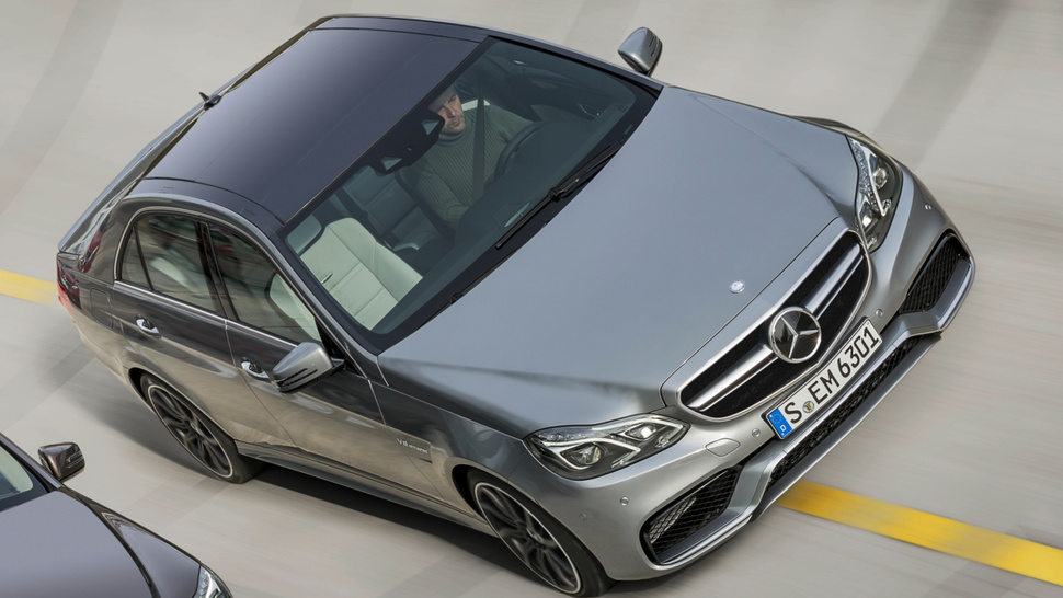 This Is The First Picture Of The All-Wheel Drive 2014 Mercedes E63 AMG