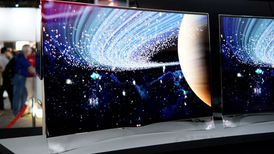 how to change a curve tv screen