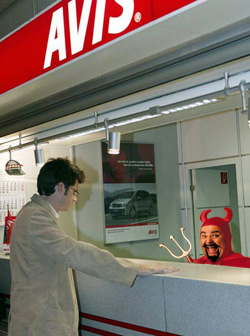 "Avis Promotes European ""Three-Minute Guarantee,"" Prepares To Hand Out Lots Of Vouchers"