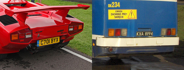 Separated at Birth: Lamborghini Countach Vs. Ikarus 280 Bus