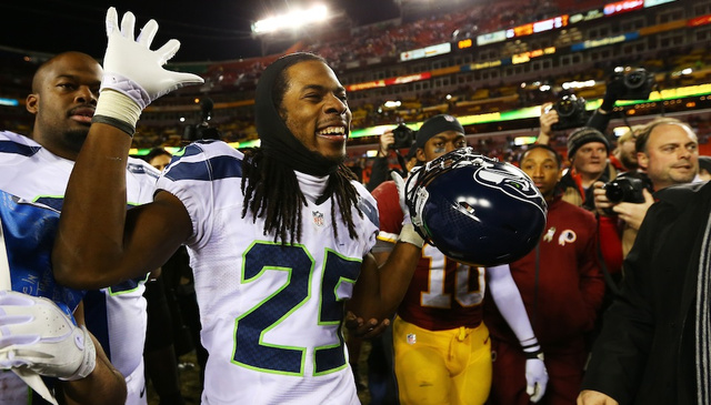 Here's How Seahawks Corner Richard Sherman Got Himself Punched In The Face On Sunday