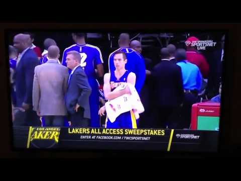 Steve Nash hits Metta World Peace with uncredited armpit-towel …