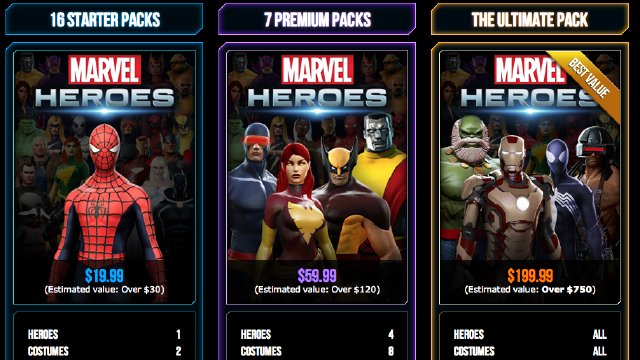 You May Spend $199 to Unlock Everything in Marvel Heroes Before the Game Even Launches