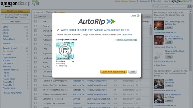Amazon's AutoRip Automatically Downloads Free MP3s for CDs Purchased from Amazon