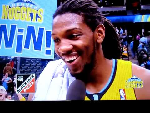 Kenneth Faried, surprised by his own numbers, swears on live TV…