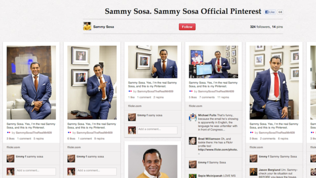Click here to read Sammy Sosa's Pinterest Page Is Just Photos of Sammy Sosa Posing Over and Over