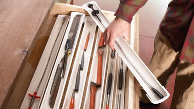 DIY Stackable PVC Drawer Organizers Keep Small Tools Easily Accessible