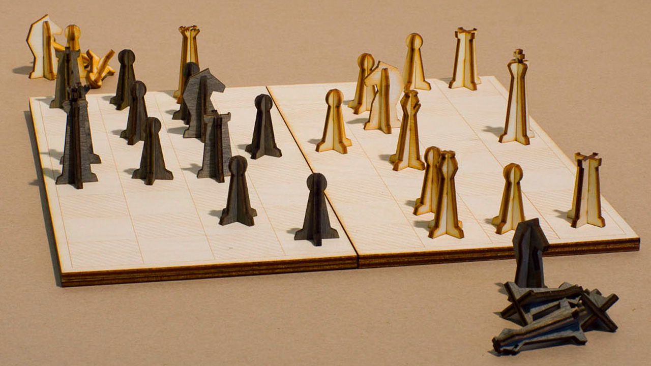 youu0027ll always have room in your bag for this lasercut chess set
