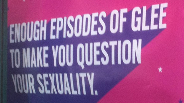 Is This Hulu Ad Mocking Glee's Gay Fans?