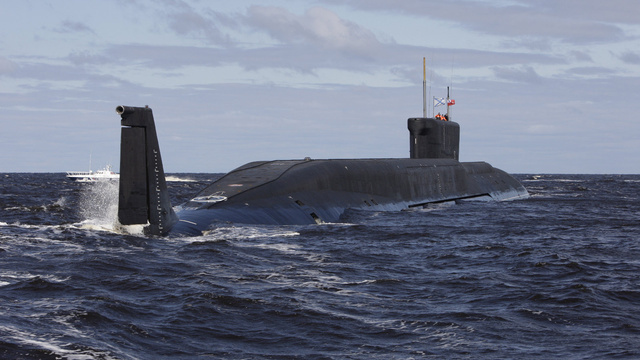 Click here to read Russia's Newest Ballistic Missile Sub Something Something Red October