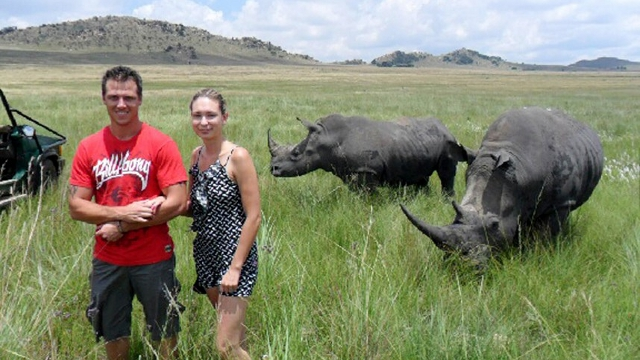 Game Park Owner Who Advised Couple to 'Stand Closer' to Rhinos Snapped This Foreboding Photo Seconds Before They Were Attacked