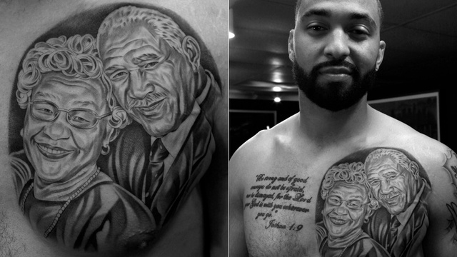 Matt Kemp Now Has A Massive Tattoo Of His Grandparents On His C…