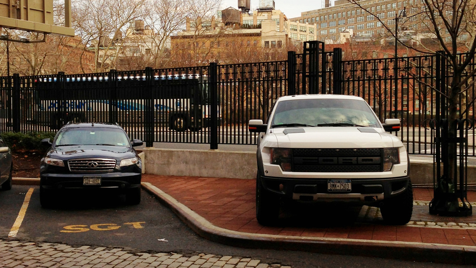 Is This Ford Raptor Driver An Asshat Or Inventive?