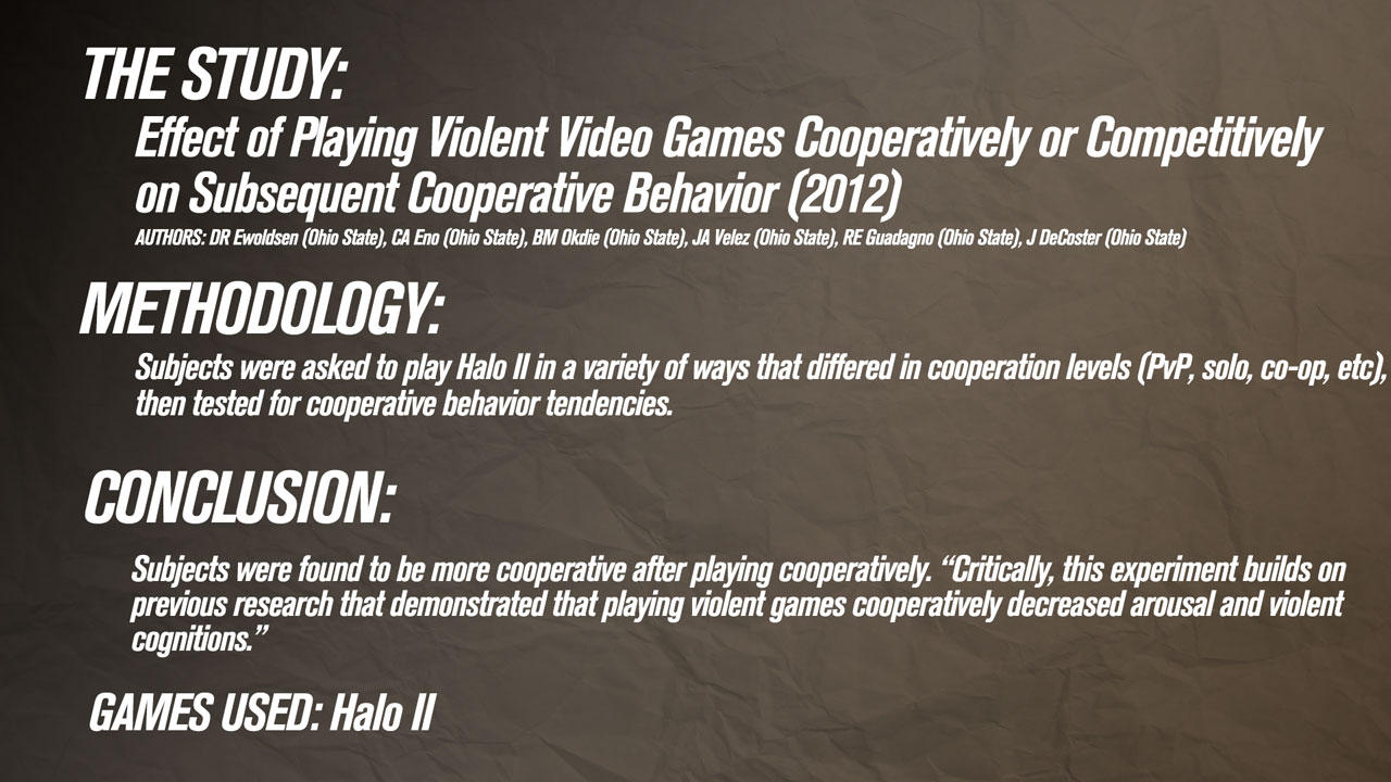 The study of video games