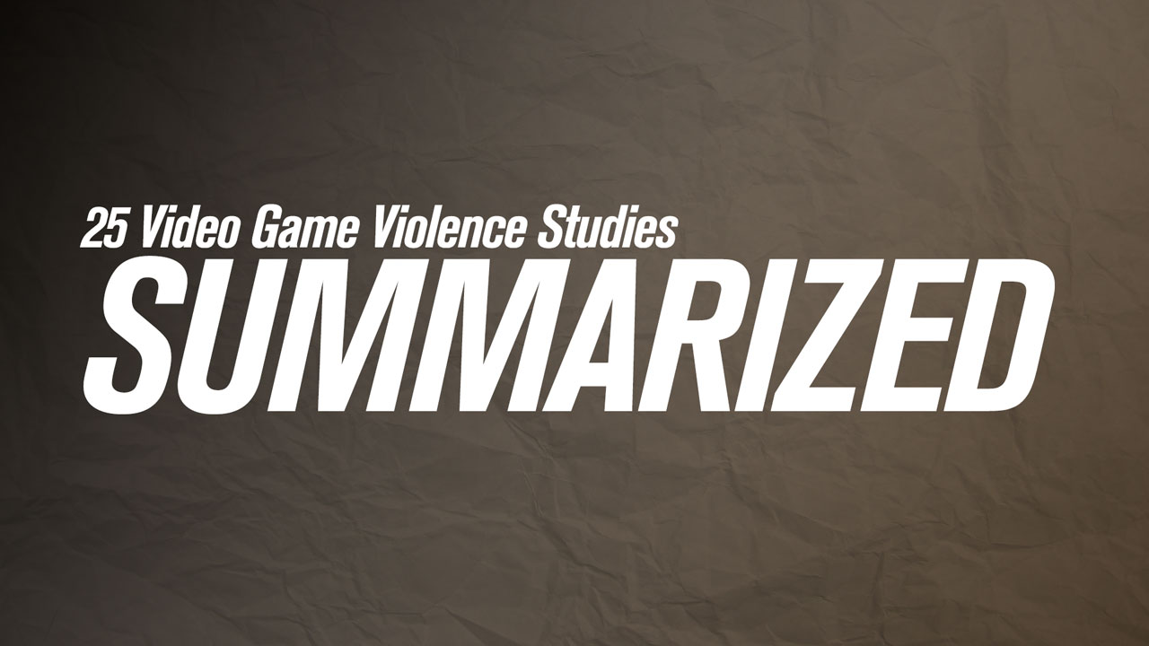 video game violence studies summarised kotaku video games so consistently a topic in the mass media s examinations of the recent sandy hook shooting we decided to take a look at the studies that