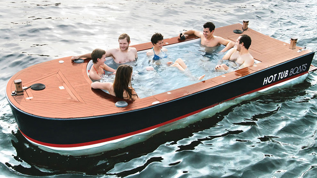 Click here to read All You Need in a Boat: An 8-Foot Hot Tub and Four Coolers