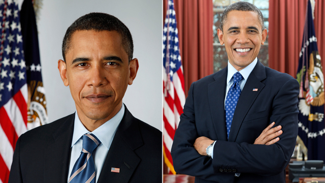 Can You Spot the Differences Between President Obama's First and Second Official Portraits?