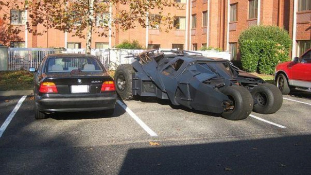 This Craigslist BMW Is Parked Next To A Batmobile With No Explanation Given
